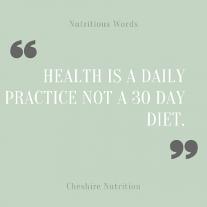 health is a daily practice not a 30 day diet